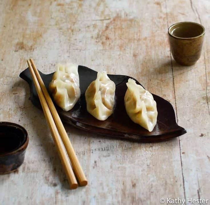 Vegan Instant Pot Steamed Vegetable Dumplings