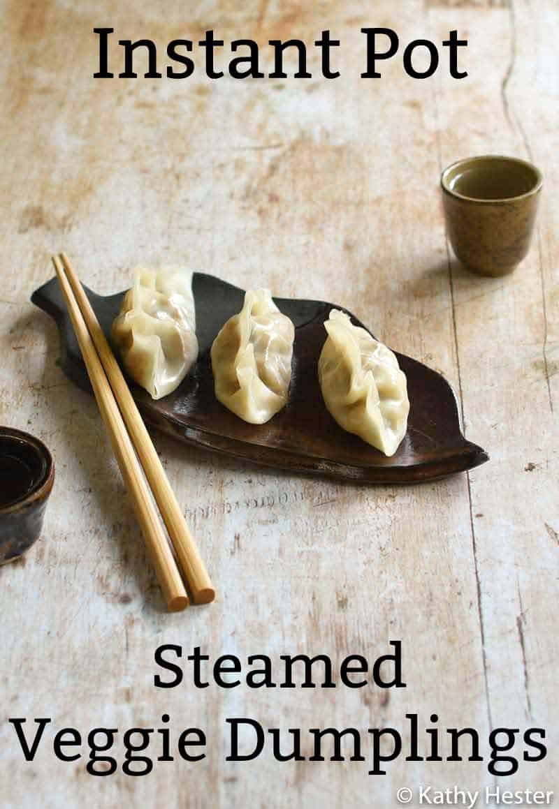 Vegan Instant Pot Steamed Vegetable Dumplings