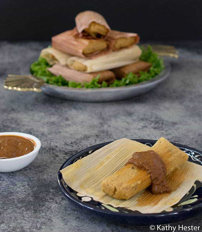 Vegan Instant Pot Tamales Made with Pumpkin Puree Instead of Oil