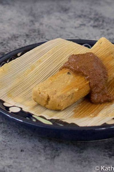 Instant Pot Tamales Made with Pumpkin Puree Instead of Oil