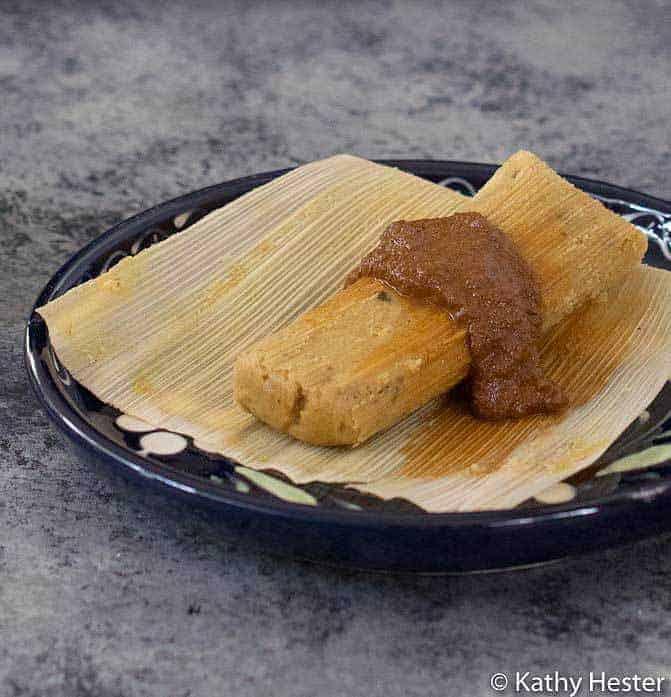 No Oil Vegan Instant Pot Tamales