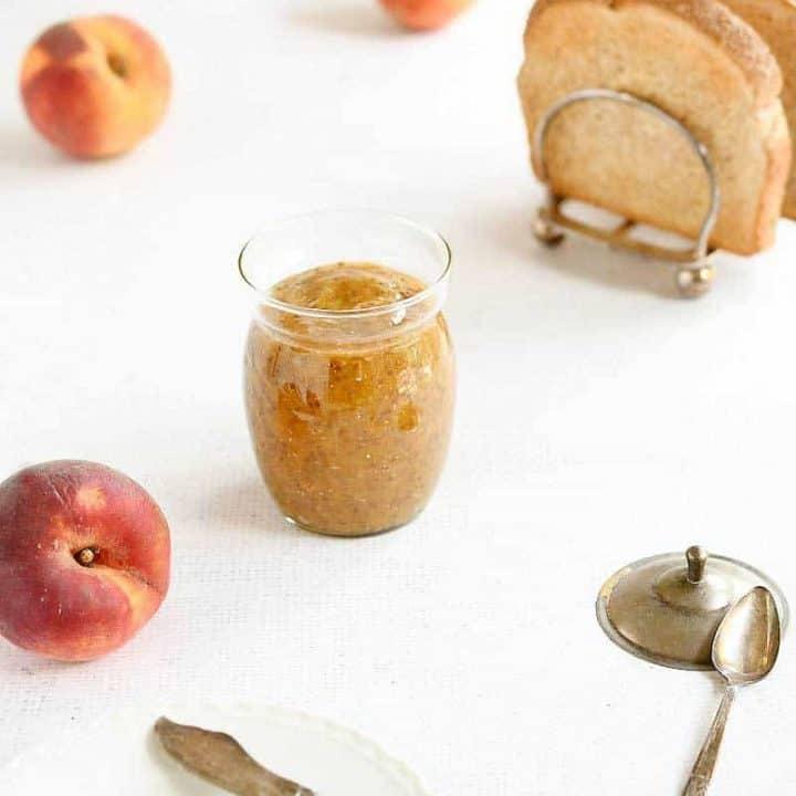Instant Pot Vanilla Maple Peach Chia Jam