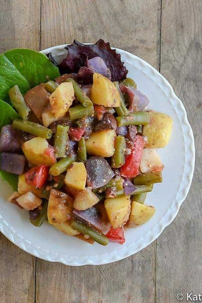Plant Based Instant Pot Potato Salad: Extra Veggies and No Added Oil