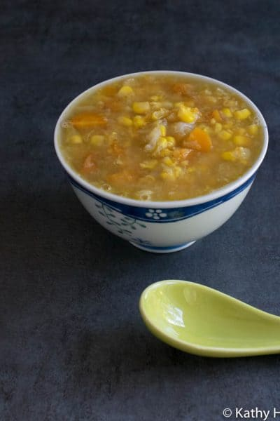 Instant Pot Cabbage and Corn Soup with an Indo-Chinese Flair