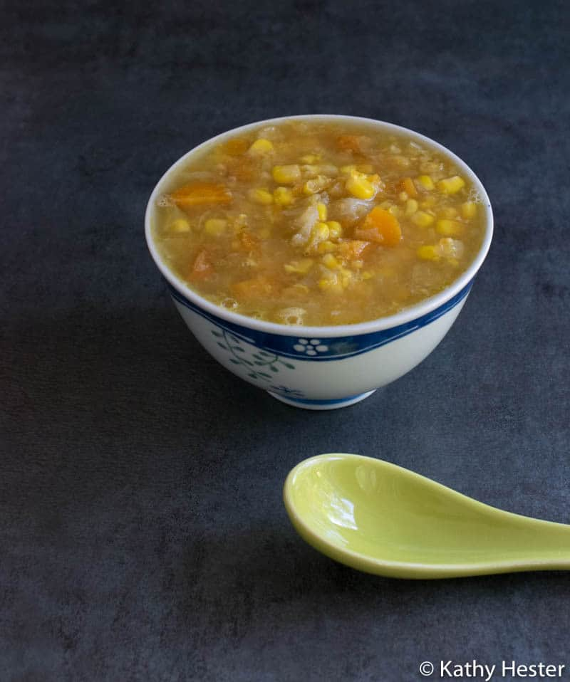 Instant Pot Cabbage and Corn Soup with and Indo-Chinese Flair