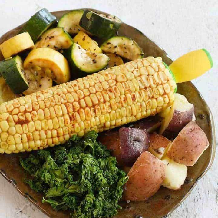 Fresh Summer Instant Pot Vegetable Dinner - Pot in Pot Method