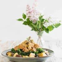 Instant Pot Tempeh, Potato and Kale Bowl - Pot in Pot Method