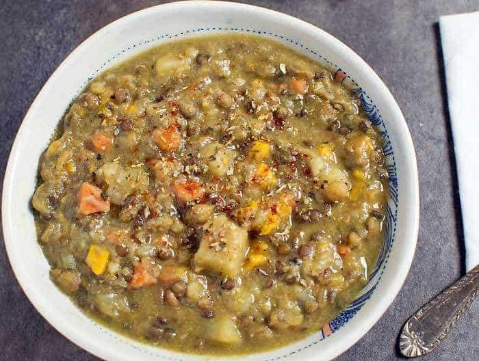 Instant Pot Lentil Vegetable Soup