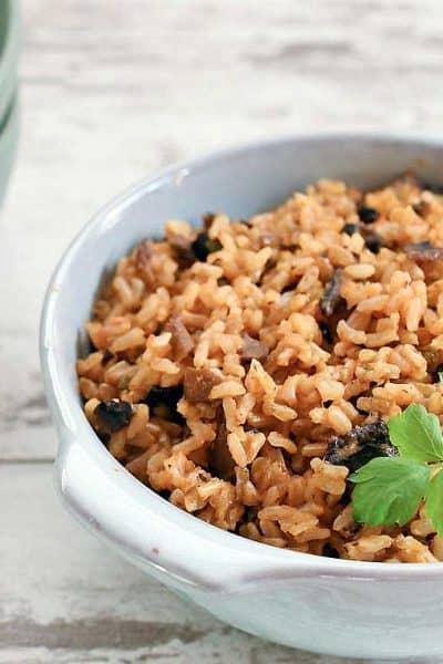 Vegan Instant Pot Mushroom Dirty Rice