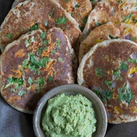 Easy Instant Pot Uttapams: Savory Indian Pancakes