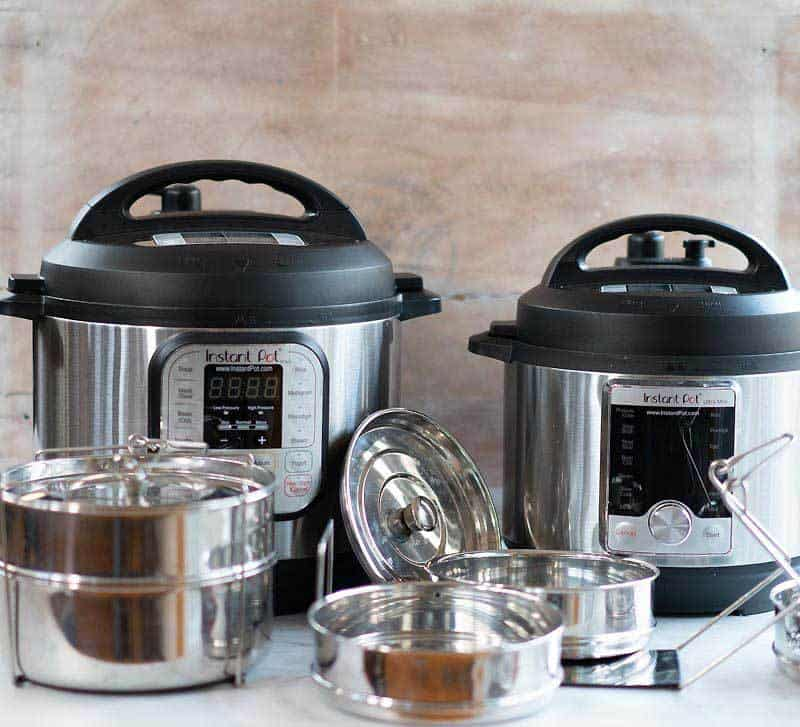 Instan Pot stackable stainless steel inserts