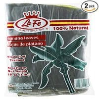 Frozen Banana Leaves (Hojas de Platano) by La FE - 1 Lb Pack (Count of 2)
