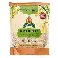 Laxmi Organic Urad Dal (Unhusked Black Lentils) - Traditional Indian Foods - 2lbs
