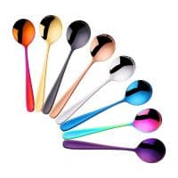 Do Buy 7-inch Stainless Steel Table Spoons Soup Spoons Bouillon Spoons, 8 Pieces