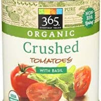 365 Everyday Value, Organic Crushed Tomatoes with Basil, 28 Ounce