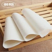 7.5 inch Perforated Round Steamer Liners, Suitable for Bamboo Steamers