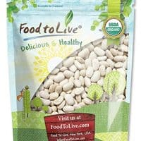Organic Cannellini Beans by Food to Live (Raw, Dried, Non-GMO, Kosher, White Kidney Beans in Bulk, Product of the USA) — 1 Pound