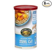 Nature's Path Organic Gluten Free Oats, Steel Cut, 30 Ounce Canister (Pack of 6)