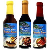 Coconut Secret Coconut Aminos Teriyaki Sauce, Garlic Sauce, and Aminos (Bundle)