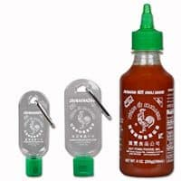 Sriracha Keychain Gift Pack: 9 Ounce Sriracha + 1 Ounce Keychain + 1.7 Ounce Keychain
