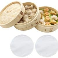 100% Natural Bamboo Steamer Basket - with Bonus Reusable Cotton Liners
