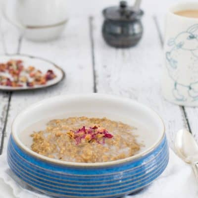 Instant Pot Earl Grey Steel Cut Oats
