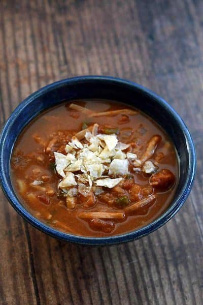 Instant Pot Jackfruit Tortilla Soup