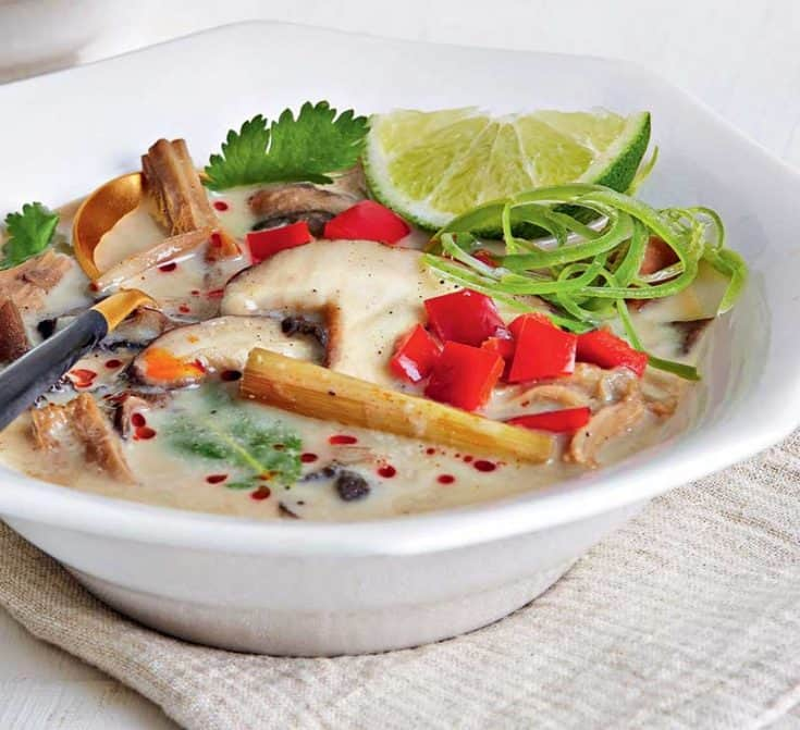 Slow Cooker Jackfruit Tom Kha Gai Recipe