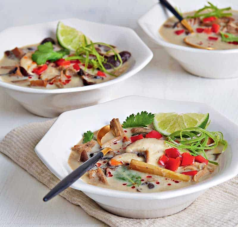 Slow Cooker Jackfruit Tom Kha Gai Recipe
