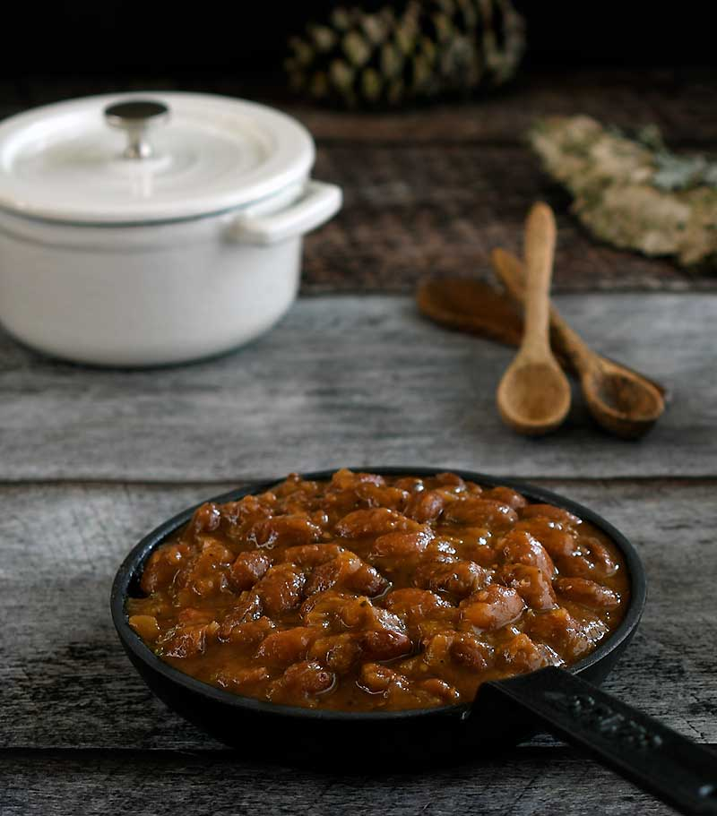 instant pot molasses baked beans
