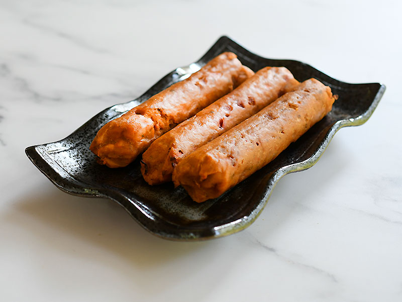 Steamed dogs - ready for freezing or cooking.